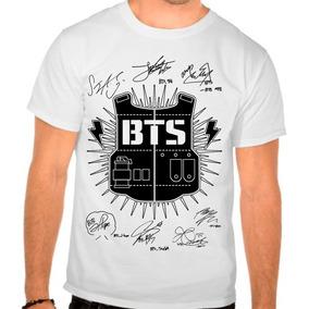 Camiseta Branca Ou Babylook Kpop Bangtan Boys Bts Autografos