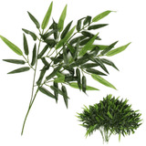 12 Galhos Bambus - Bamboo Arvores Plantas Artificial Verdes
