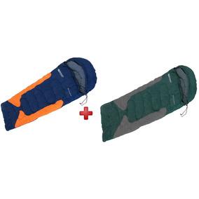 Kit Saco 2 De Dormir C Capuz Freedom -1,5ºc À -3,5ºc Nautika