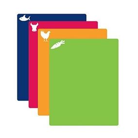 Set 4 Tablas Flexibles Para Picar Multicolor + Envío Gratis