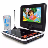 Dvd Portátil Tv Digital Tela 7 Usb Encosto De Cabeça Infanti