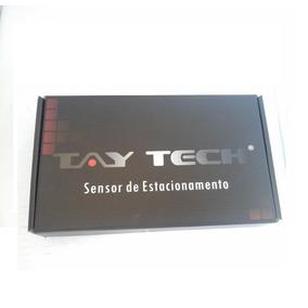 Sensor De Re 4 Pontos Prata Com Display Tay Tech