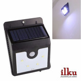 Pack 2xfoco Solar Led Con Sensor Pared/4led/encendido Autom