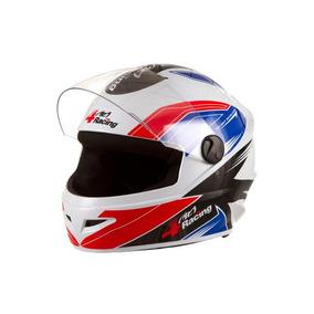 Capacete 4 Racing (+ Viseira Cromada) Vermelho/azul | 60 Pro