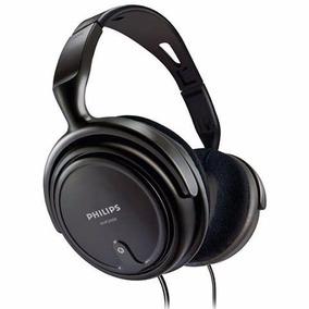 Fone De Ouvido Philips Shp2000 Headphone Preto Cabo Comprido