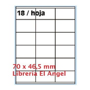 Etiqueta Oritec A4 4118 Para Impresoras Laser O Inkjet X100