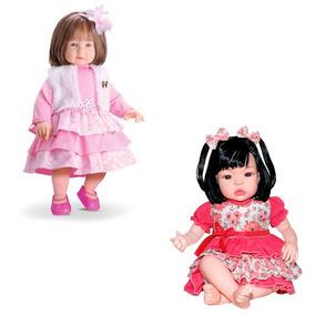 Kit Boneca Anabelle Divertoys + Baby Kiss Tipo Reborn Sidnyl
