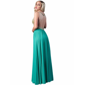 Vestido Fiesta Largo De Noche Sqma6014b - Esmeralda