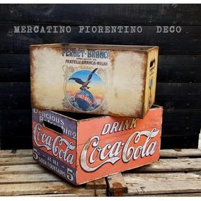 Cajon Artesanal Vintage Madera Coca Jack Daniels Fernet
