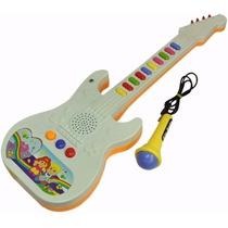Guitarra Infantil Com Microfone - Emite Sons E Deixa Cantar