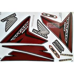 Kit Faixa Adesivo Titan Cg 150 Esd/ex Preta 2014