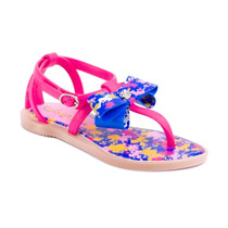 Sandalia Grendene Chiquititas Bege/rosa/azul