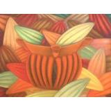 Pinturas De Frutas En Tiza Pastel Sobre Papel Gamuzado