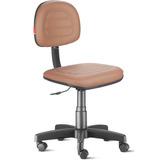 Cadeira Secretária Costura Giratória Courvin Laranja Clara
