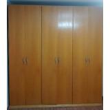 Armário Mdf Lâminas De Marfim 6 Portas