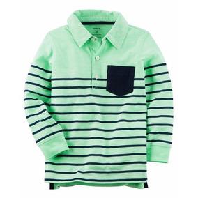 Blusa Camisa Polo Carters Listrado Manga Longa - 243g973