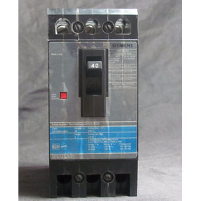 Pastilla Interruptor Termomagnético Siemens Ed 3p 40a 480v