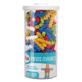 Blocos De Montar - Pinos Mágicos - 200 Peças - Elka