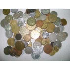 Lote 100 Monedas Diferentes Argentina Usa Italia - No Envío