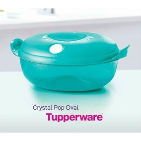 cristal pop oval recipiente para microondas de tupperware