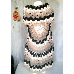 Chaleco Circular De Hilo Tejido A Crochet.