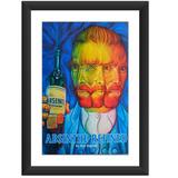 Quadro Absinto Van Gogh Bebidas Poster Decoracao Bar Casa Tv
