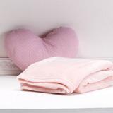 Manta / Cobertor Micro Fibra Solteiro Kit 5 Pecas Rosa Bebe