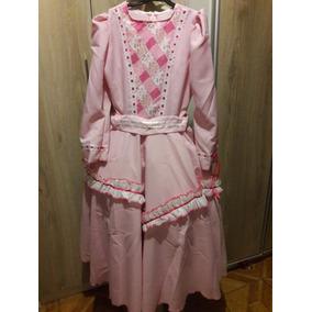 Vestido De Prenda 10 A 12 Anos Oxford Lindo! Roupa Típica