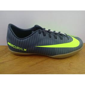 Zapatos Nike Mercurialx Vapor 11 Cr7 Ic Gris / Verde Niño