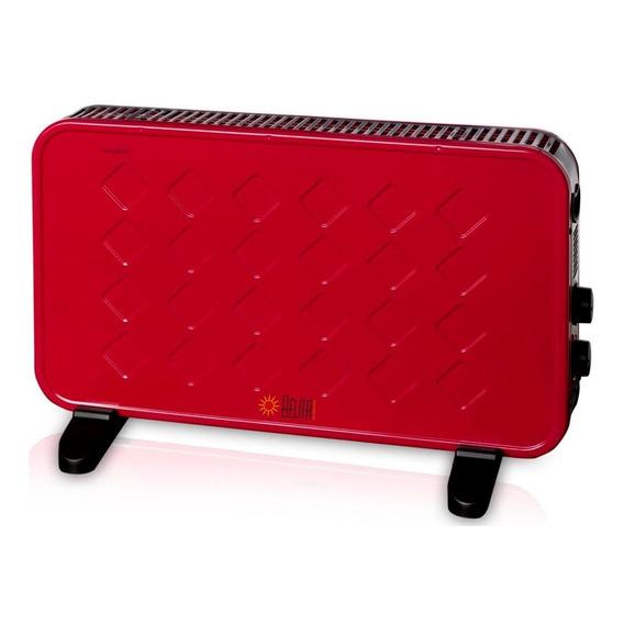 Panel Calefactor Convector Eléctrico Termostato 2000w Rojo