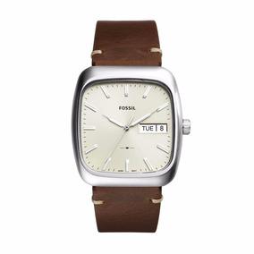 Reloj Fossil Fs5329 Piel Café/plateado Rutherford Caballero