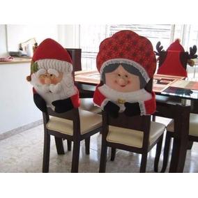 Patrones forros para sillas de navidad en mercado libre m xico - Adornos navidenos para sillas ...