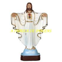 Escultura Jesus Cristo Redentor Oxala Imagem Estatua 60cm