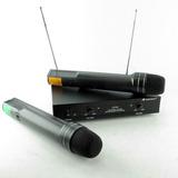 Microfono Inalambrico Doble 2 Manos Vhf 50 Mts Lx707 1° Htec