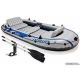 Bote Canoa Inflable Para 5 Personas Marca Intex Con Remos
