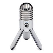 Microfone Samson Meteor Usb Condensador Cardióide Com Tripé