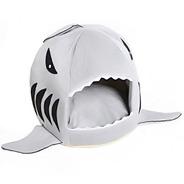 Casinha Cachorro Gato Casa Toca Pet Tubarão Com Almofada P