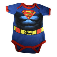 Pañalero Superman Disfraz Con Musculos - Ropa De Bebe