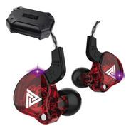 Qkz Ak6 Con Micro + Estuche Audifonos Auriculares Rojo