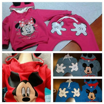 Conjuntos Con Friza Bebe Mickey Minnie Por Mayor!