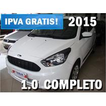 Ka 1.0 2015 Completo- Carro Zero Entrada É Na Somar!!!