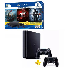 Ps4 Slim Playstation 41tb 3 Jogos+psn God 4 C/ 2 Controles