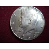 Moneda Estados Unidos Medio Dolar 1969d Plata