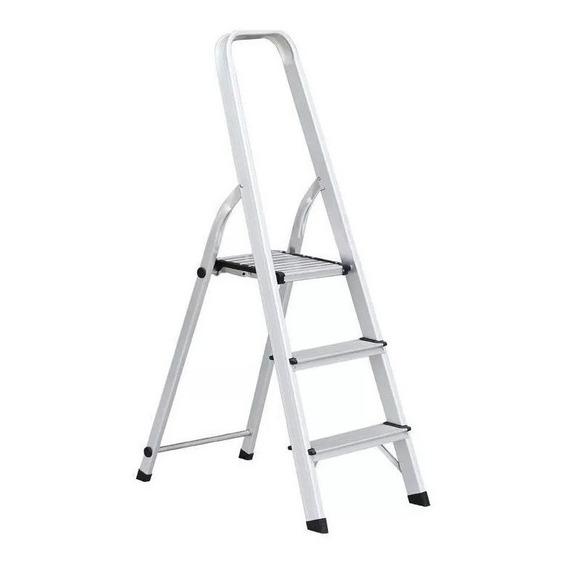 Escalera  Aluminio 3 Escalones Kushiro 62 Cm  Tijera