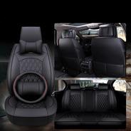 Kit Funda Cubre Asiento Volante Auto Premium Luxury Completo