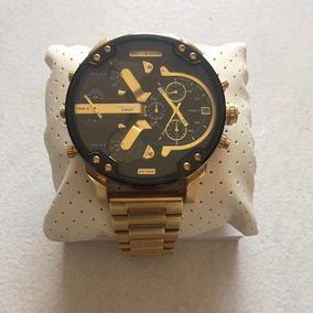 78631e779cc Relogio Banhado Ouro - Relógio Diesel Masculino no Mercado Livre Brasil
