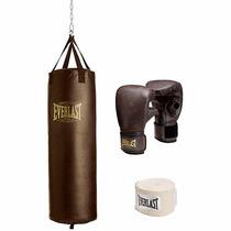 Everlast Costal Saco 100 Lbs Con Guantes Y Vendas Boxeo Box