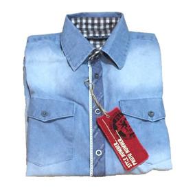 Camisa De Mezclilla Para Caballero Color Supblinsh Mca Guess