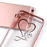 Iphone 7 Caso, Doble-lin Mini Amor Corazón