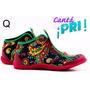 Zapatillas Te Para Tres Hippie Arabescos Y Colores